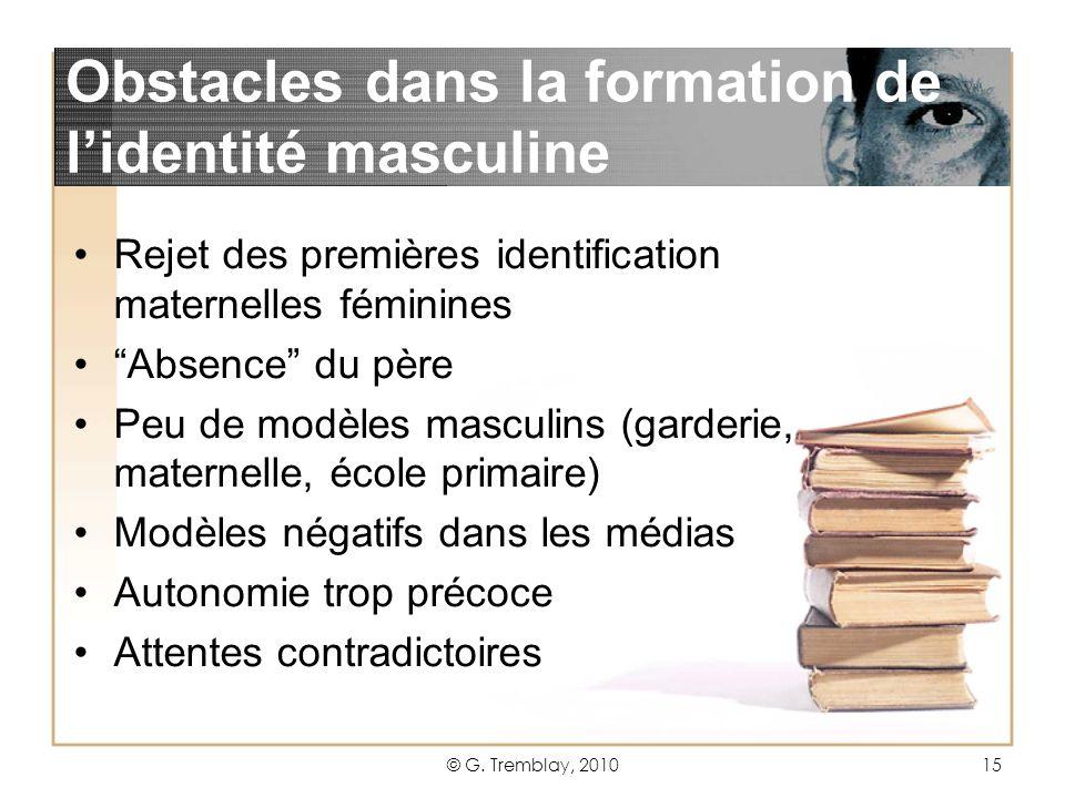 Obstacles dans la formation de l'identité masculine