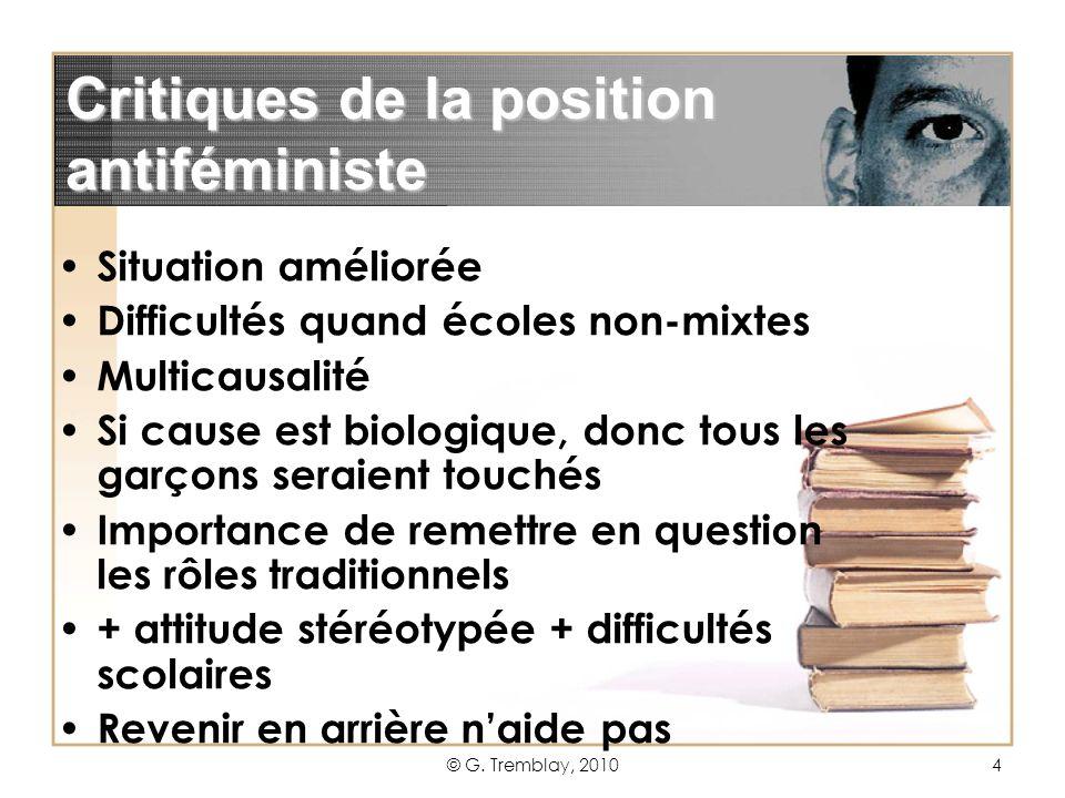 Critiques de la position antiféministe