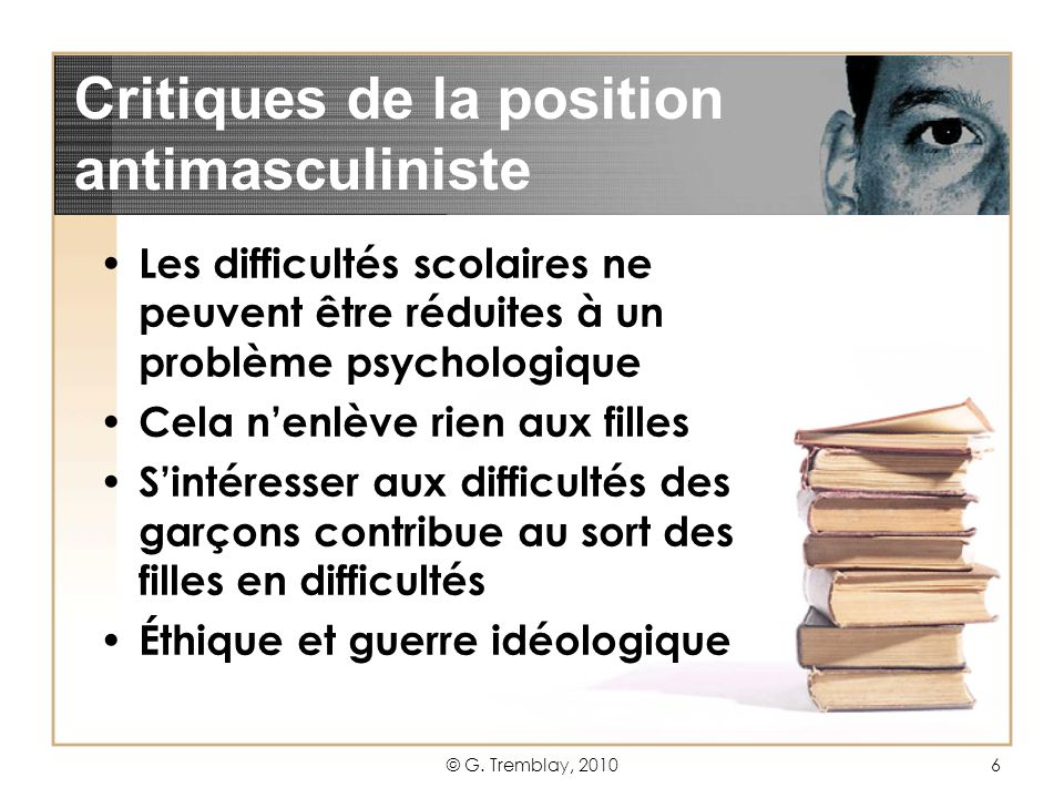 Critiques de la position antimasculiniste