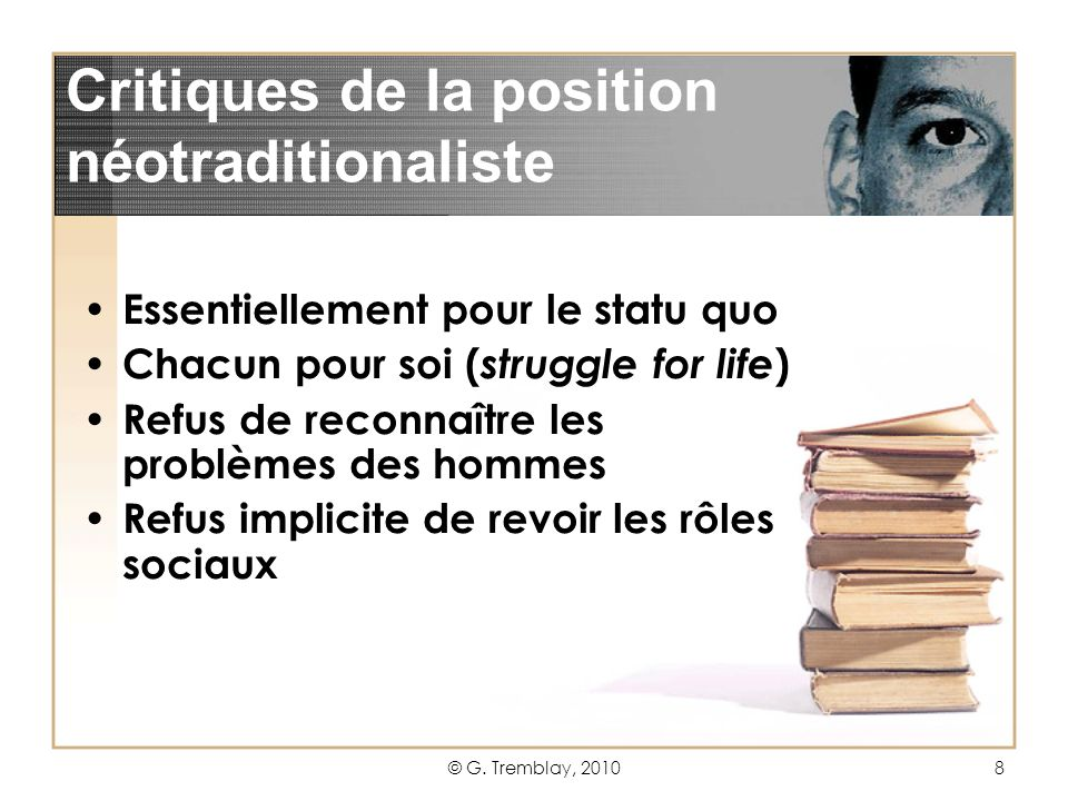 Critiques de la position néotraditionaliste