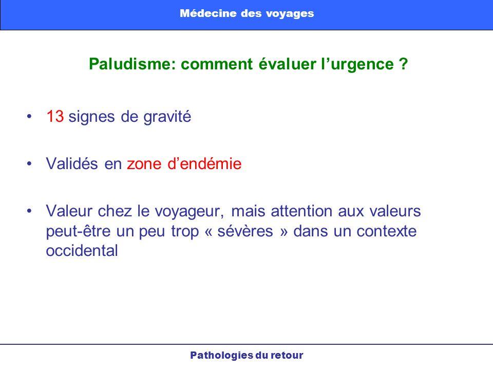 Paludisme: comment évaluer l'urgence