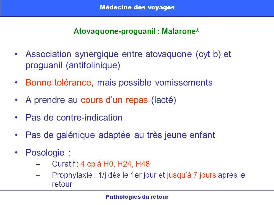 Atovaquone-proguanil : Malarone®