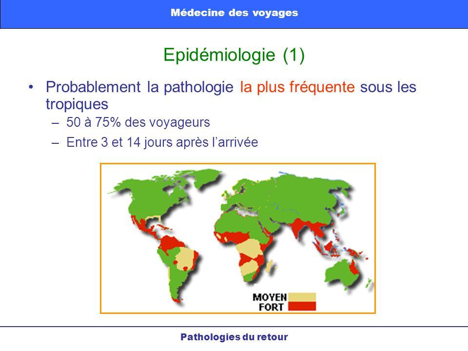Médecine des voyages Epidémiologie (1) Probablement la pathologie la plus fréquente sous les tropiques.