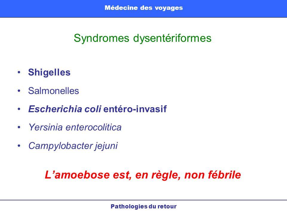 Syndromes dysentériformes