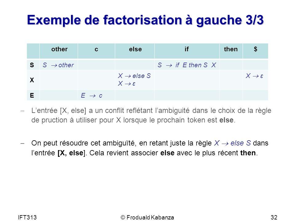 Exemple de factorisation à gauche 3/3