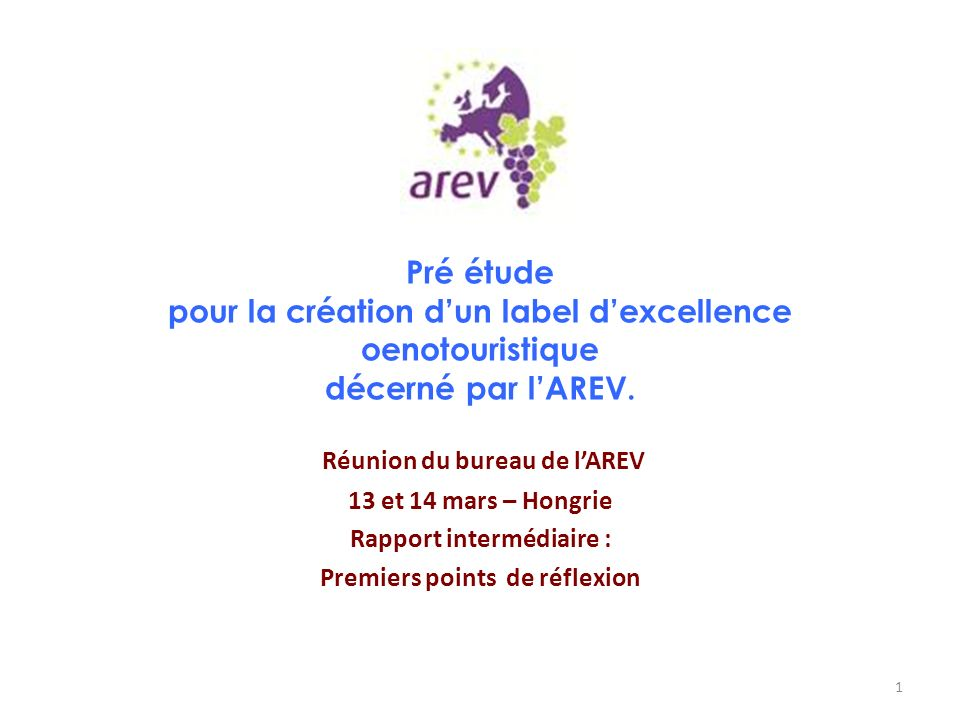 Réunion du bureau de l'AREV