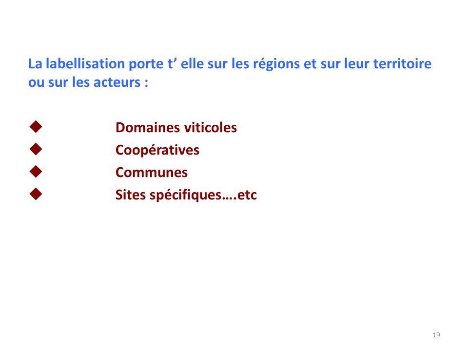 La labellisation porte t' elle sur les régions et sur leur territoire ou sur les acteurs :