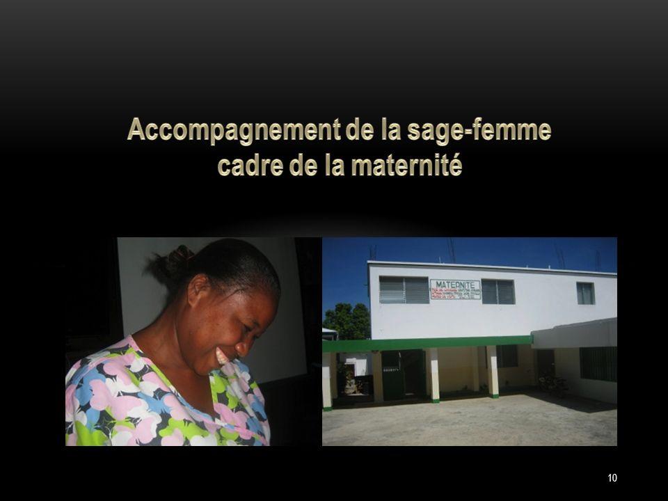 Accompagnement de la sage-femme cadre de la maternité