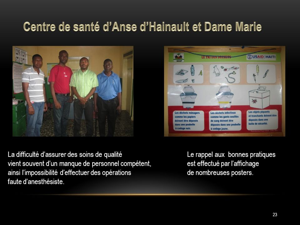 Centre de santé d'Anse d'Hainault et Dame Marie