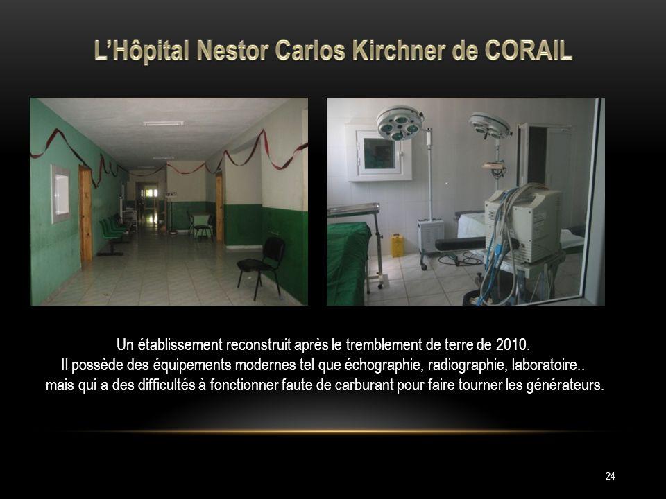 L'Hôpital Nestor Carlos Kirchner de CORAIL