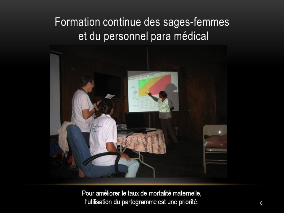 Formation continue des sages-femmes et du personnel para médical