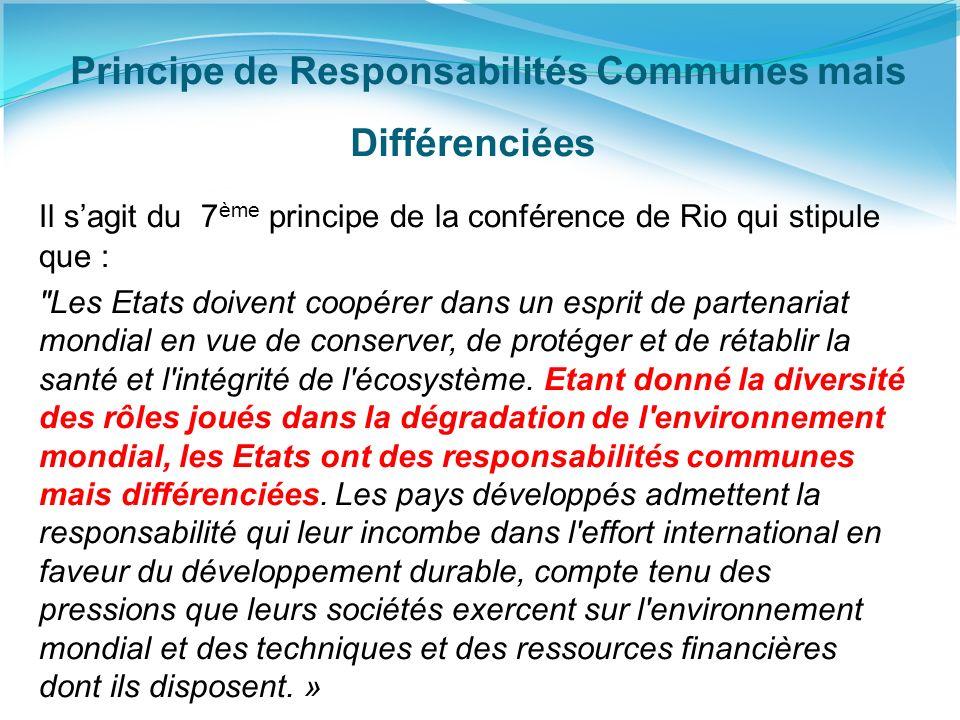 Principe de Responsabilités Communes mais Différenciées