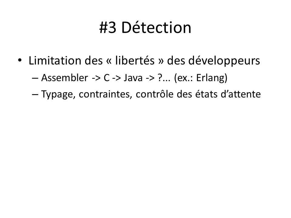 #3 Détection Limitation des « libertés » des développeurs