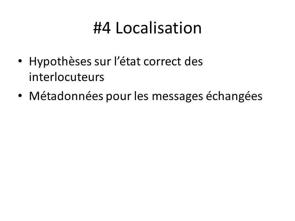#4 Localisation Hypothèses sur l'état correct des interlocuteurs