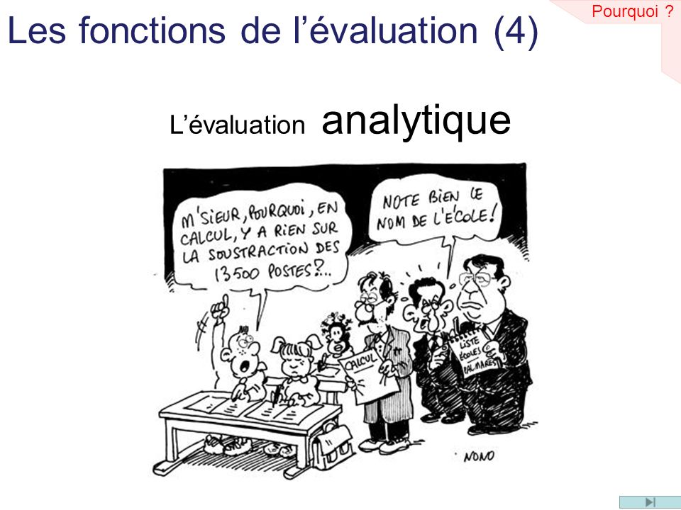 L'évaluation analytique
