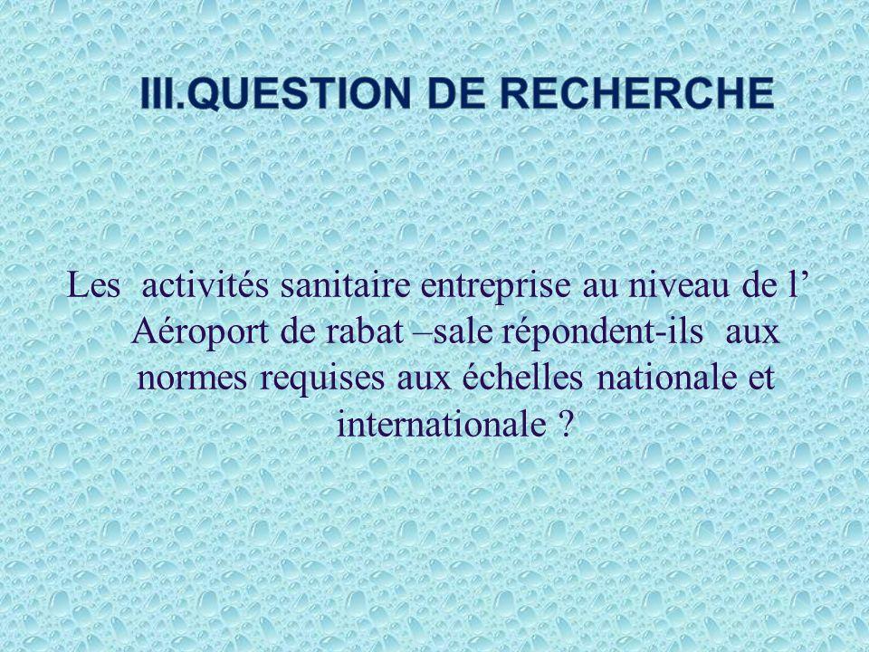 III.QUESTION DE RECHERCHE