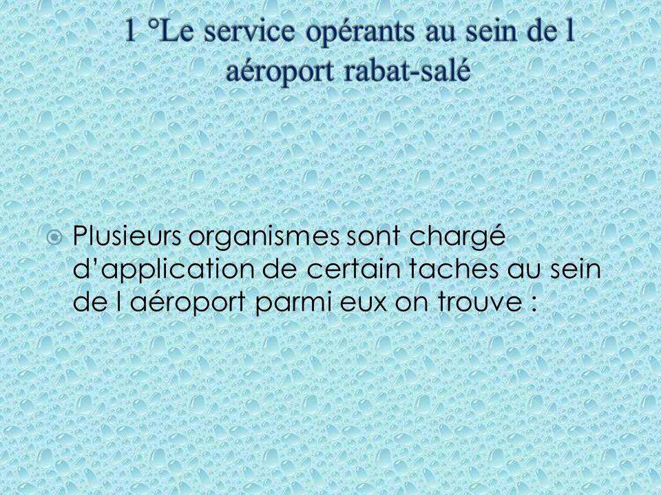1 °Le service opérants au sein de l aéroport rabat-salé
