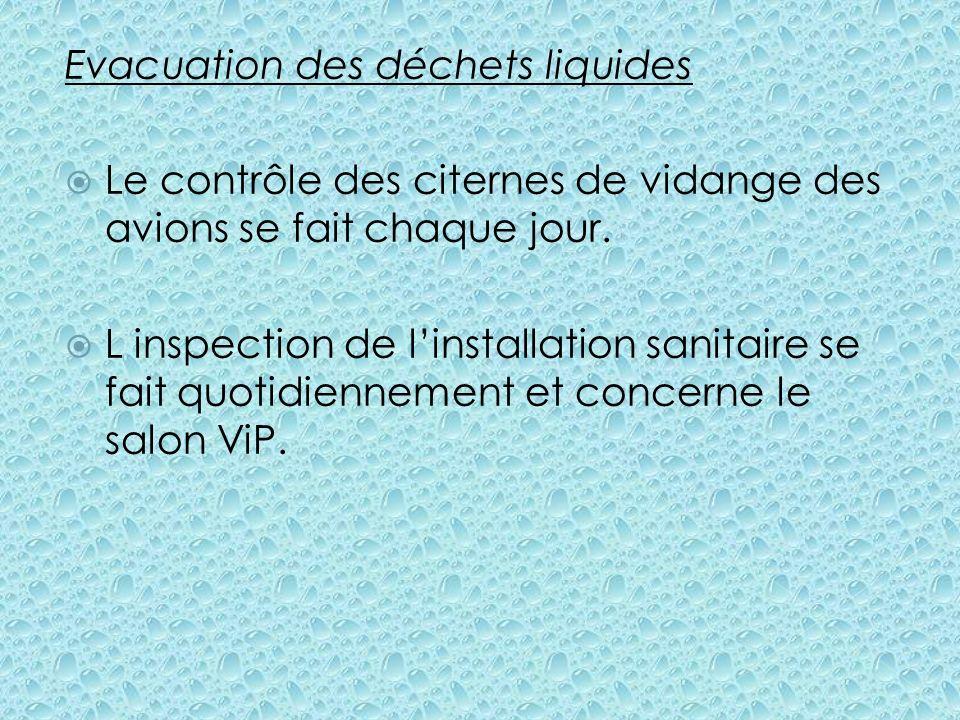Evacuation des déchets liquides