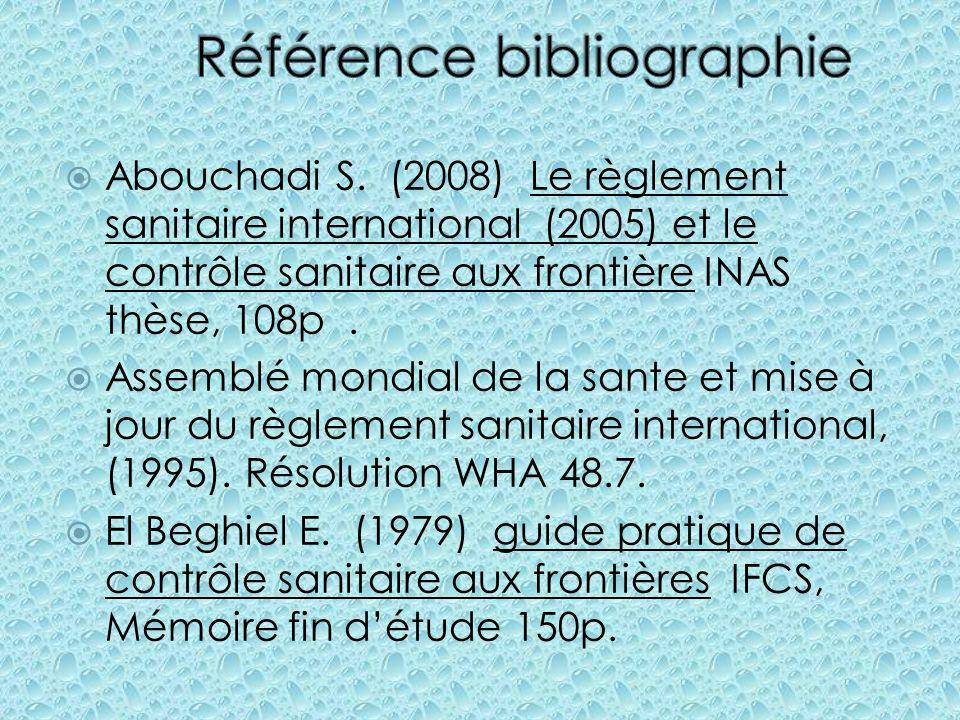 Référence bibliographie