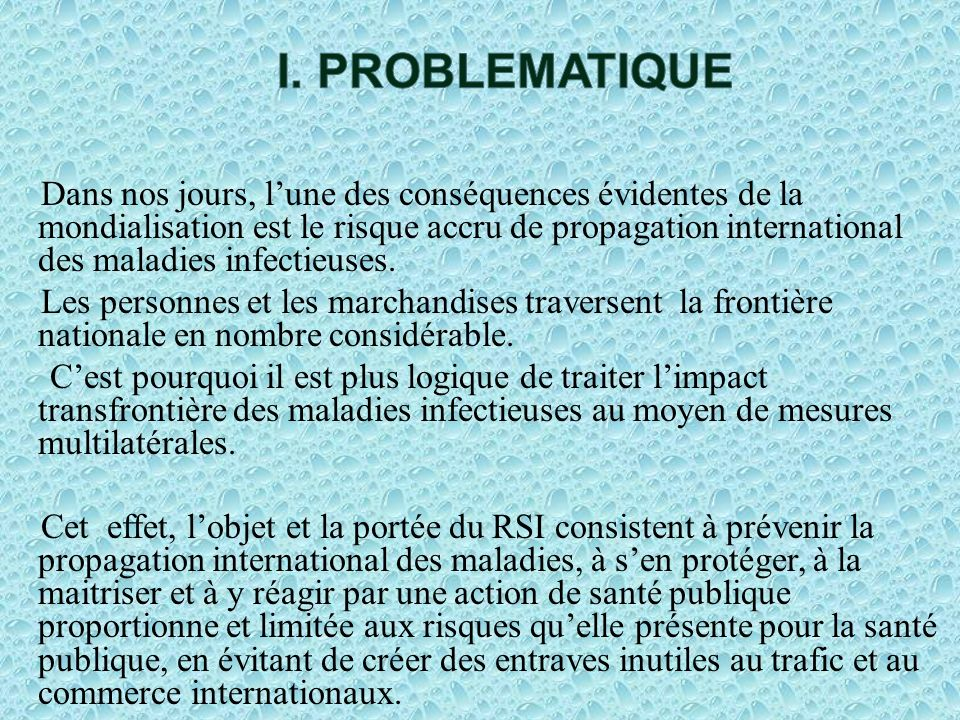 I. PROBLEMATIQUE