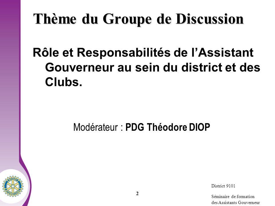Thème du Groupe de Discussion