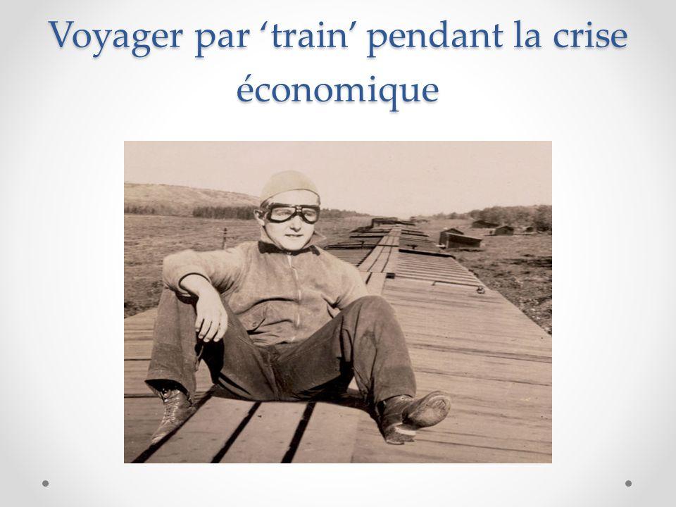 Voyager par 'train' pendant la crise économique