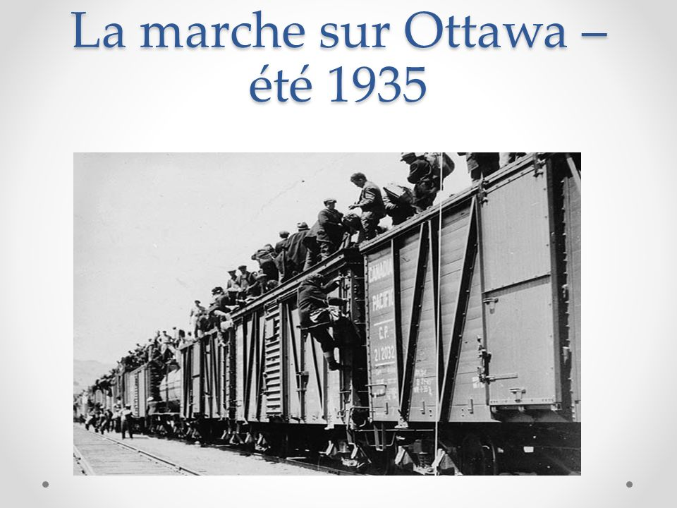 La marche sur Ottawa – été 1935