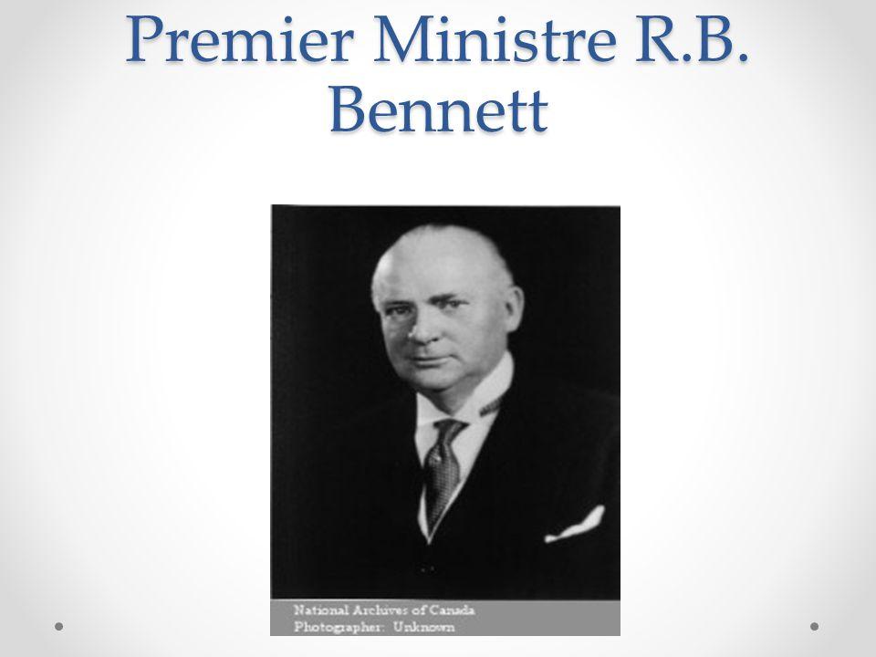 Premier Ministre R.B. Bennett