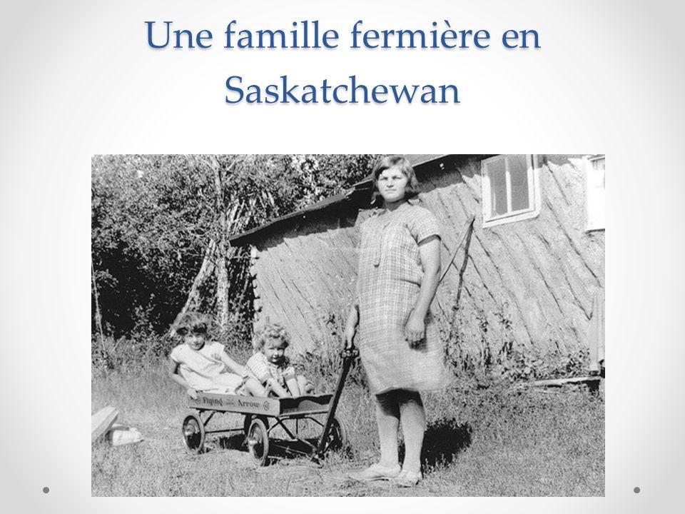 Une famille fermière en Saskatchewan