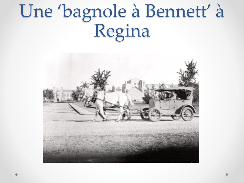 Une 'bagnole à Bennett' à Regina