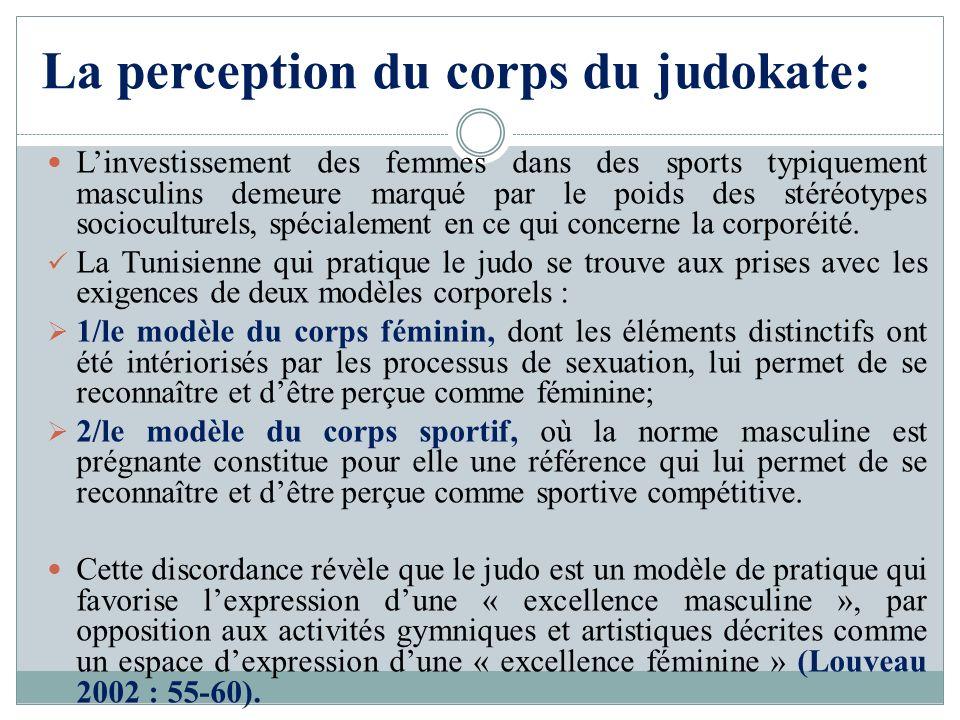 La perception du corps du judokate: