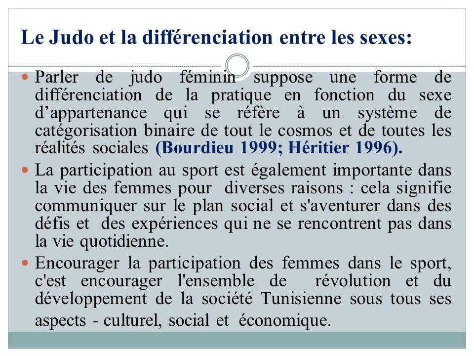 Le Judo et la différenciation entre les sexes: