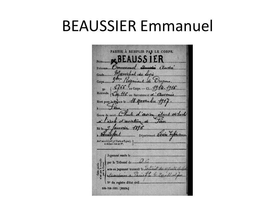 BEAUSSIER Emmanuel
