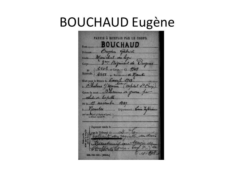BOUCHAUD Eugène