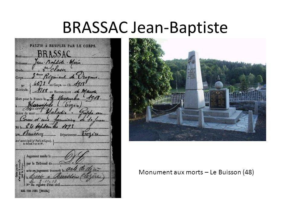 BRASSAC Jean-Baptiste