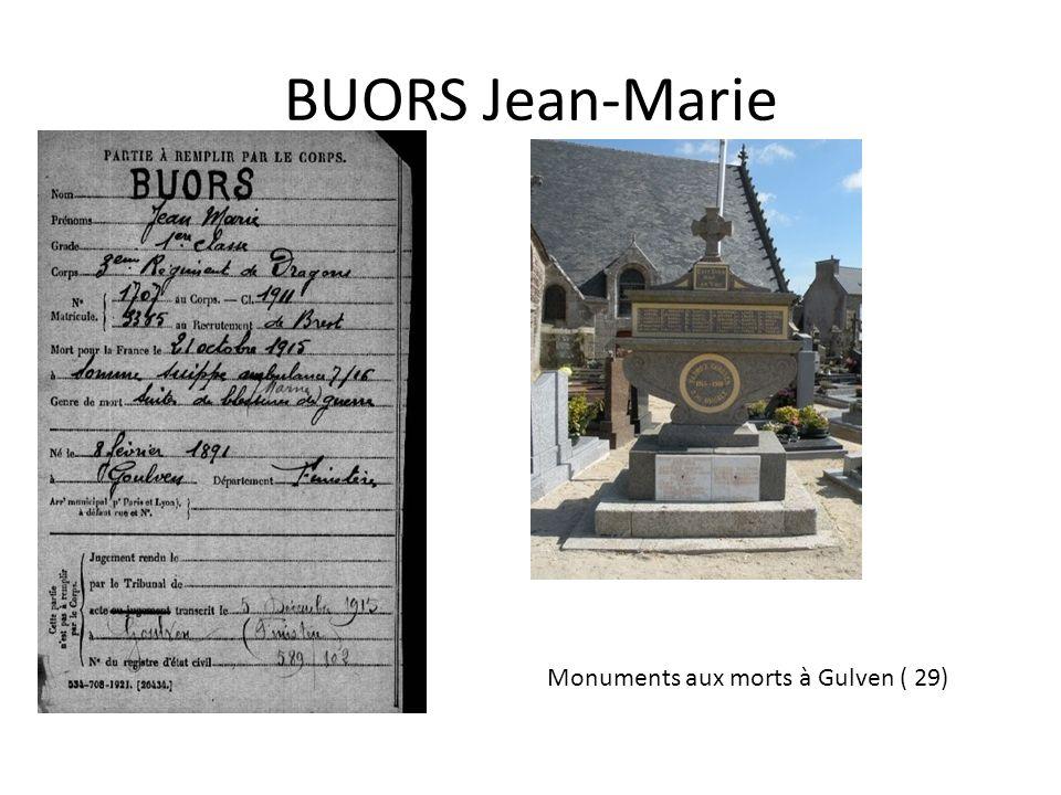 Monuments aux morts à Gulven ( 29)
