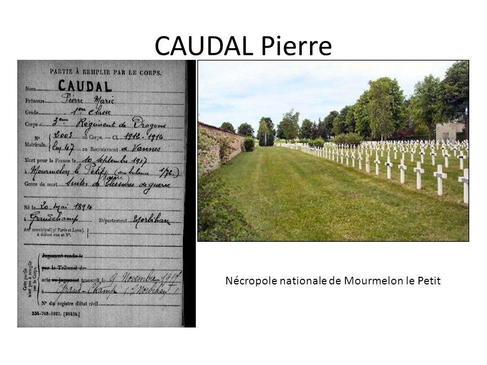CAUDAL Pierre Nécropole nationale de Mourmelon le Petit
