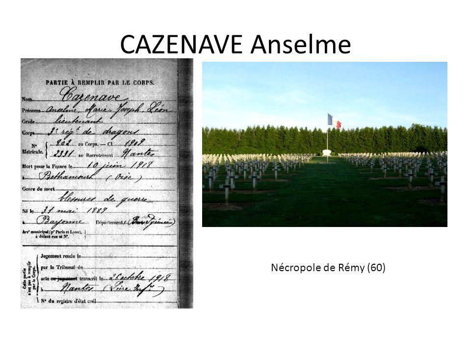 CAZENAVE Anselme Nécropole de Rémy (60)