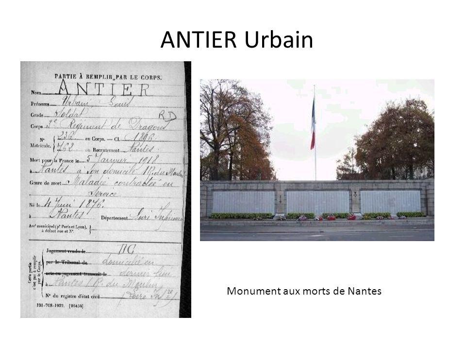 ANTIER Urbain Monument aux morts de Nantes
