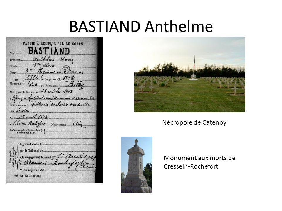 BASTIAND Anthelme Nécropole de Catenoy