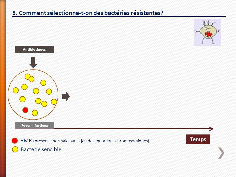 5. Comment sélectionne-t-on des bactéries résistantes