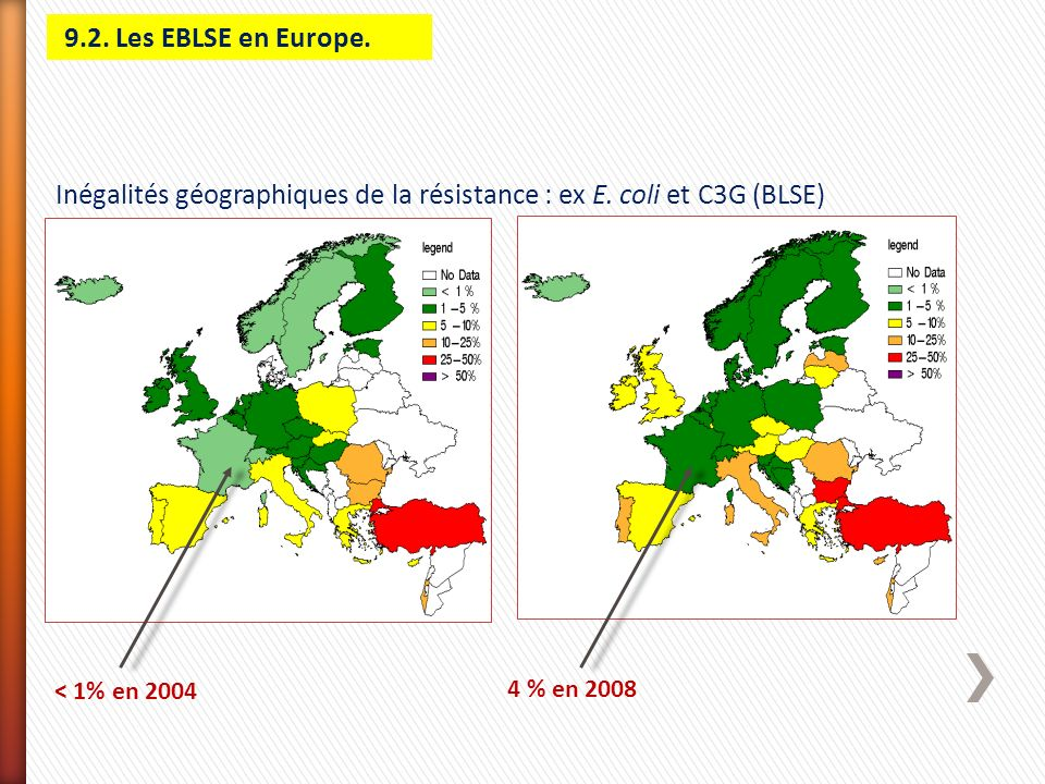 Inégalités géographiques de la résistance : ex E. coli et C3G (BLSE)