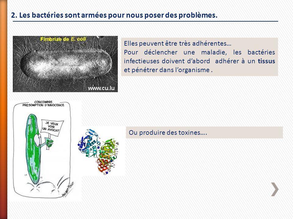 2. Les bactéries sont armées pour nous poser des problèmes.