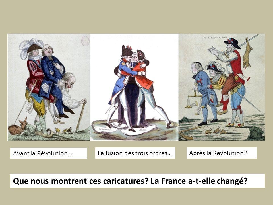 Que nous montrent ces caricatures La France a-t-elle changé