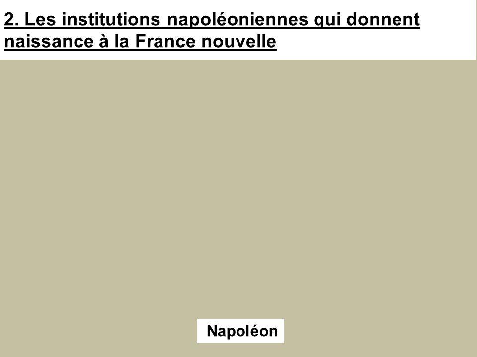 2. Les institutions napoléoniennes qui donnent naissance à la France nouvelle