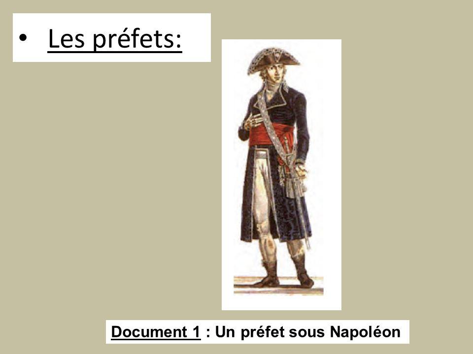 Les préfets: Document 1 : Un préfet sous Napoléon