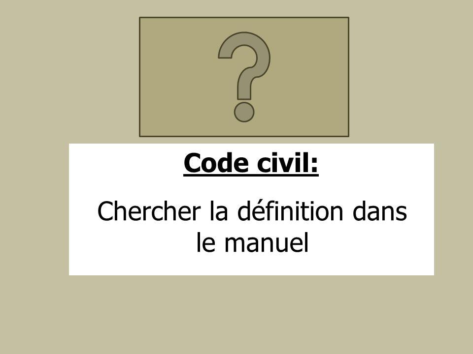 Chercher la définition dans le manuel