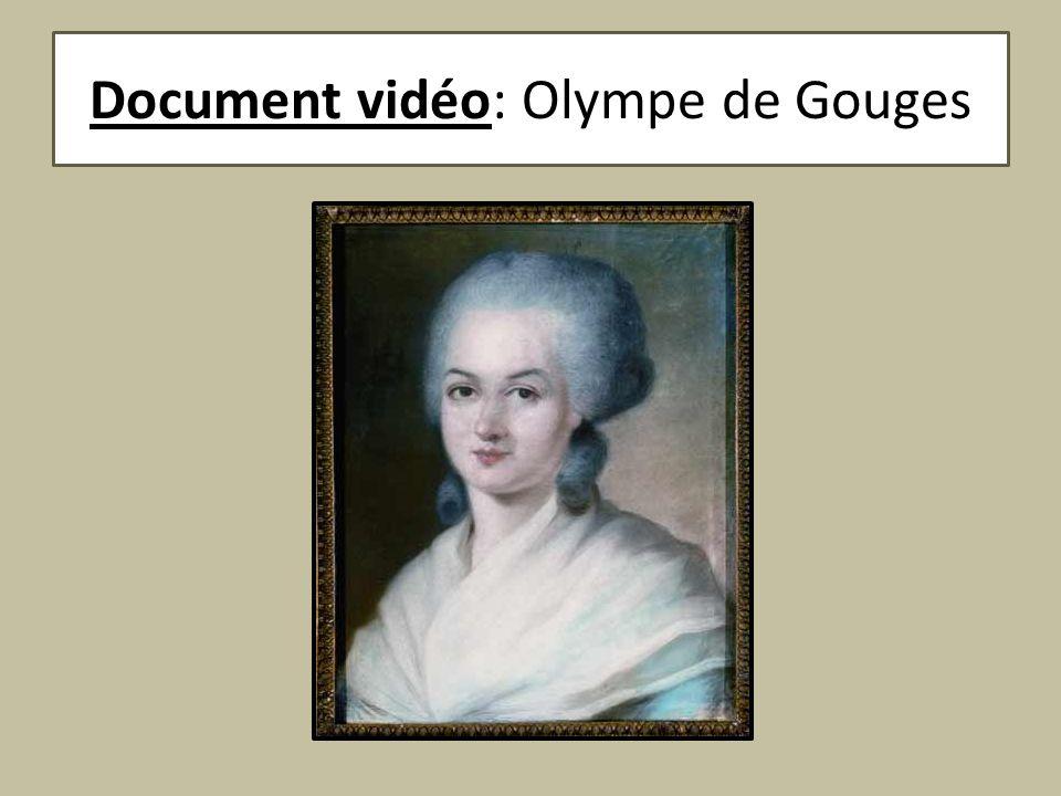 Document vidéo: Olympe de Gouges