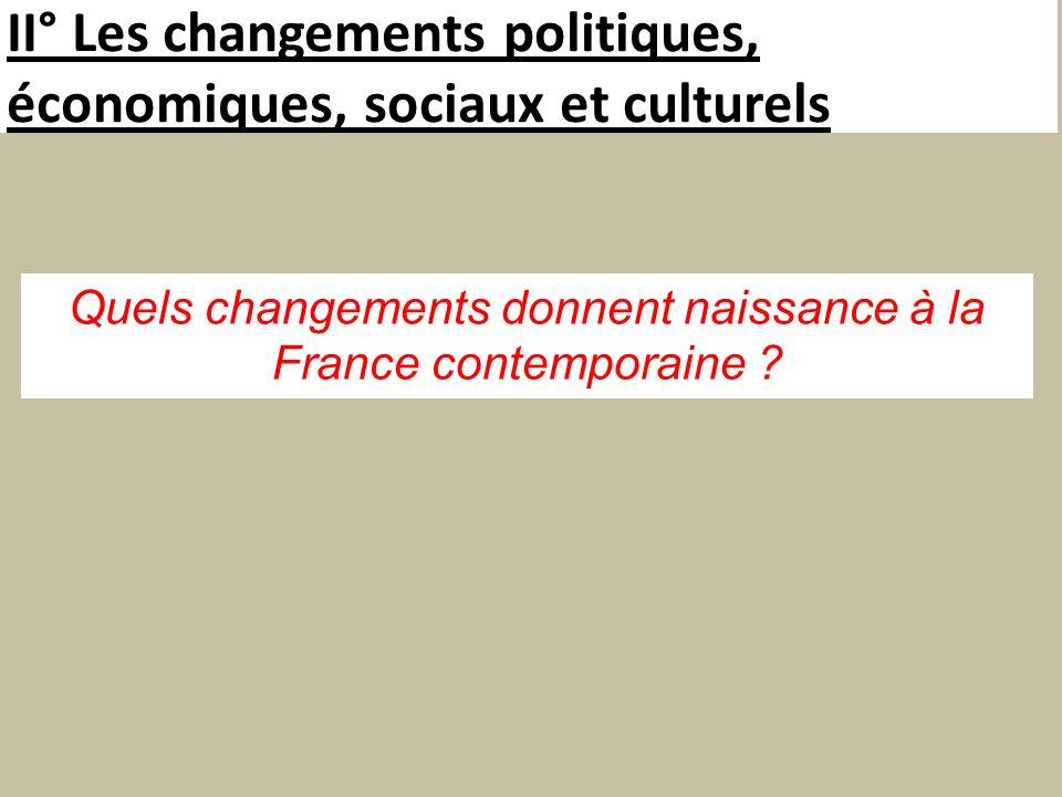II° Les changements politiques, économiques, sociaux et culturels