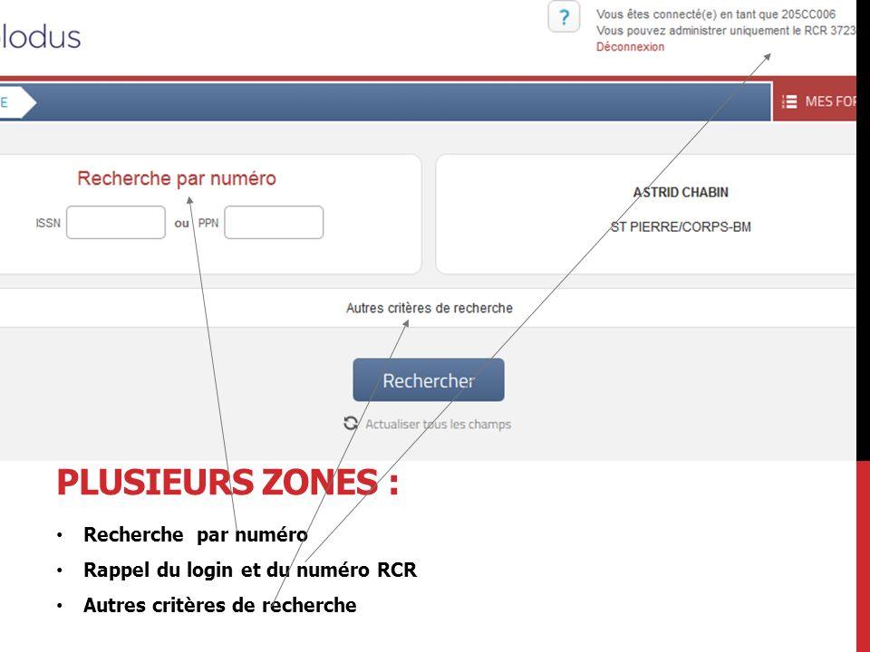 La page d'accueil se décompose en plusieurs zones :